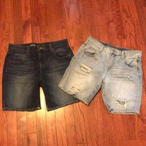Jean boy shorts